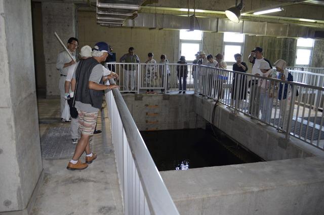 下水浄化工場見学の写真
